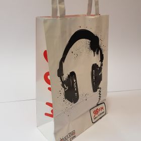 98FM - Kraft Bags with Flat Tape Handles