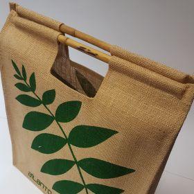 Ailanto - Jute bag bamboo handles