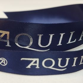Aquila - navy blue satin
