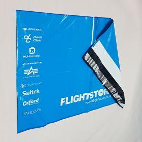 Blue printed mailing bag