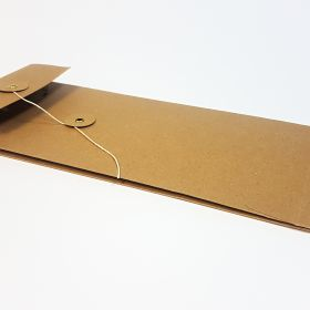 Brown kraft with string and washer fastening