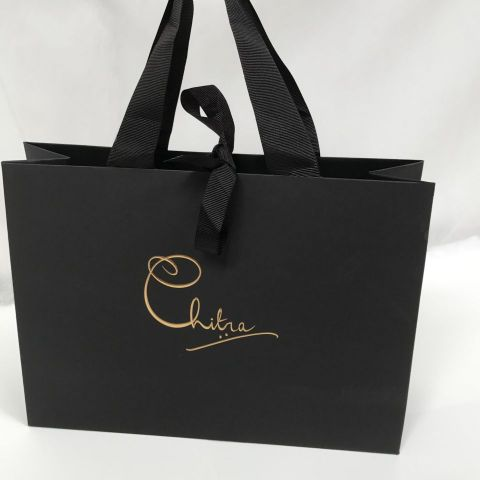 Luxury Unlaminated Bags with Ribbon Handles