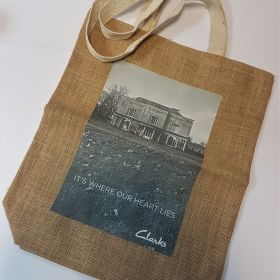 Clarks - Jute bag with flat tape handles