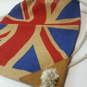 England - Drawstring Jute bag