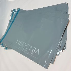 Grey printed mailing bag