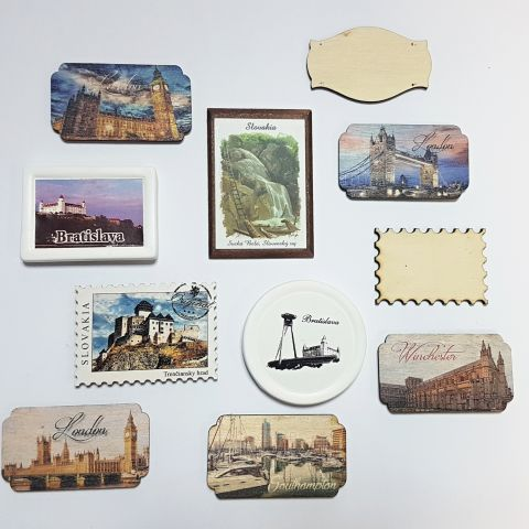 NEW - Wooden Fridge Magnets