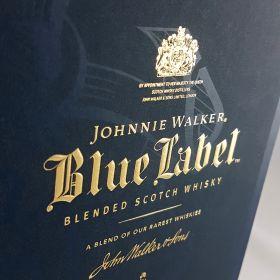 Johnnie Walker gold block foil