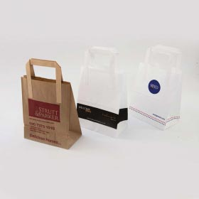 Kraft Bags with Flat Tape Handles