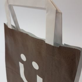 Kruger - Kraft Bags with Flat Tape Handles