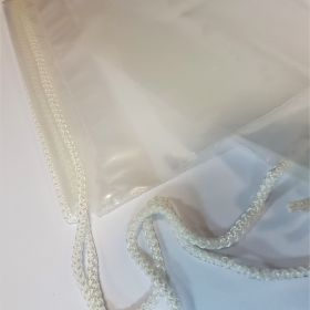 Large clear plastic duffle bag