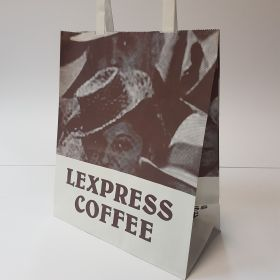 Lexpress Coffee - Kraft Bags with Flat Tape Handles