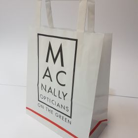 Macnally - Kraft Bags with Flat Tape Handles
