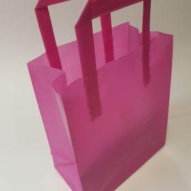Pink Plastic Takeaway Bag