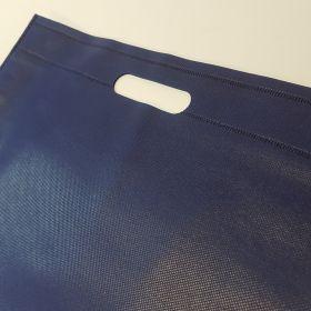 Recycled Plastic Woven Bags - Die cut handles