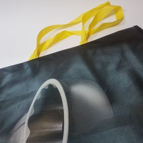 Recycled Plastic Woven Bags - Flat tape handles