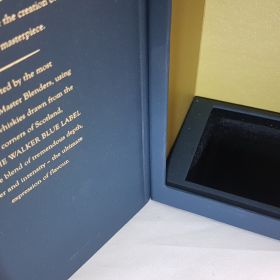 Rigid presentation box - Blue Label Whiskey