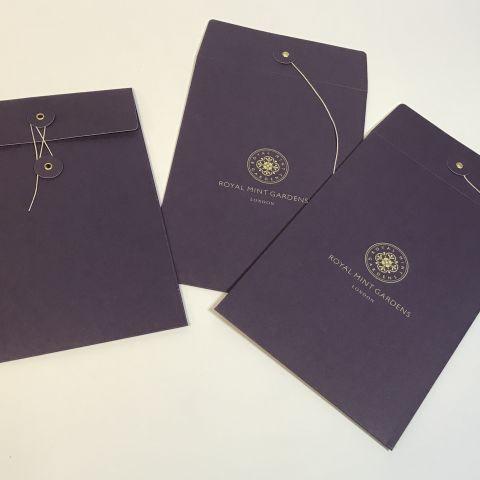 NEW - Printed V Bottom Gusset Envelopes