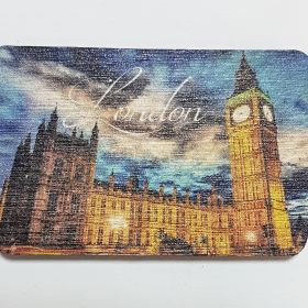 Wooden Fridge Magnet London1