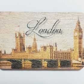 Wooden Fridge Magnet London3